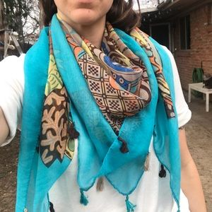 Accessories - Printed fall scarf
